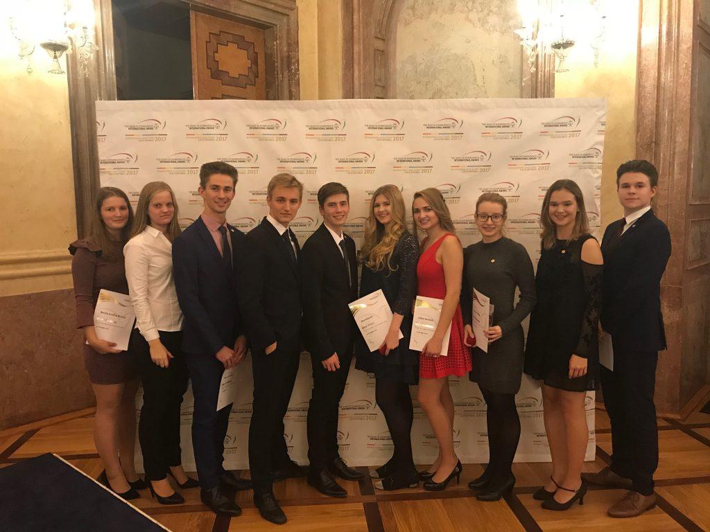 ECP students at DofE Czech Republic Gold Award Ceremony